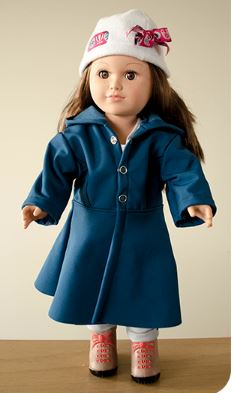 American girl 18 inch doll winter coat free sewing pattern