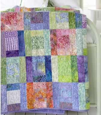 Easy quilt with squares and rectangles free pattern