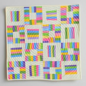 Jelly roll rainbow quilt free sewing pattern