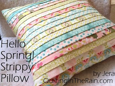 Throw pillow from jelly roll strips free sewing pattern