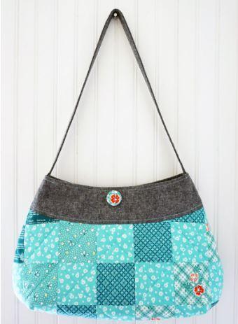 Patchwork hobo sling bag free sewing pattern