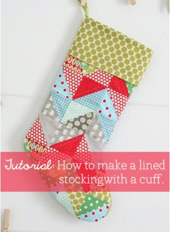 Lined stocking with cuff free sewing pattern