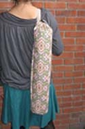 Yoga mat bag sewing pattern