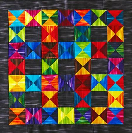 Modern quilt with triangles design free pattern