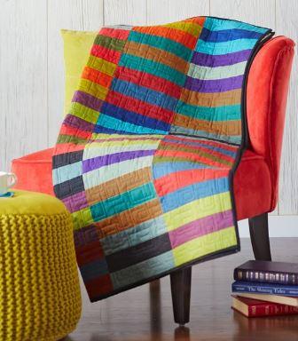 Easy modern strips quilt free pattern