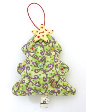 Christmas tree holiday ornament free sewing pattern