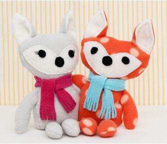 Fox stuffed animal free sewing pattern