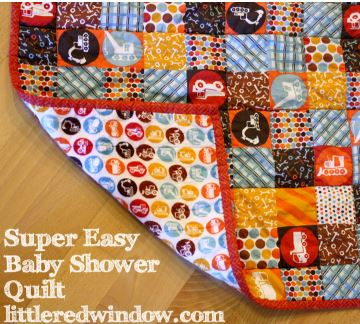 Easy baby quilt with squares free pattern