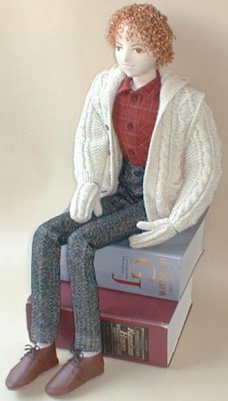 Boy fashion fabric doll free sewing pattern