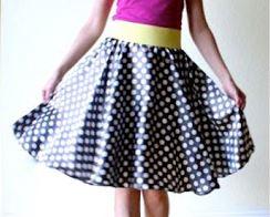 Easy circle skirt sewing pattern