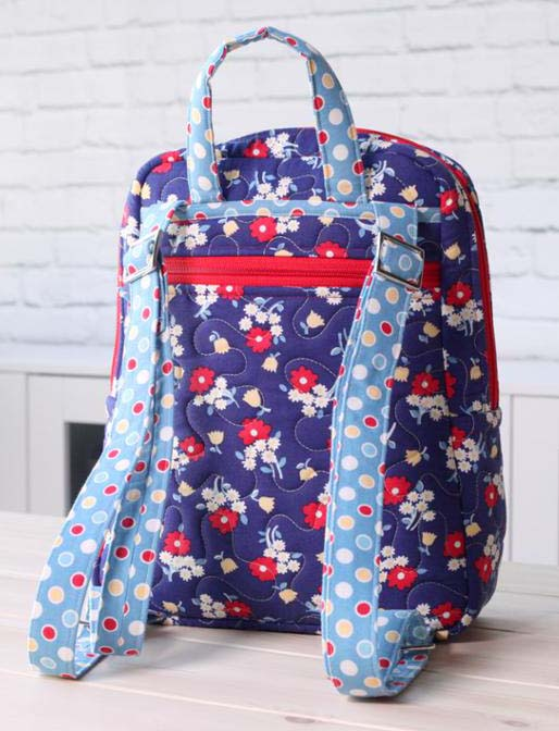 Quilted backpack sewing pattern