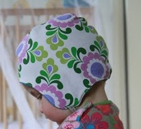 Toddler cap with ties free sewing pattern