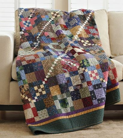 Quilt from scrap fabric free pattern