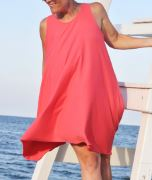 Womens sleeveless summer tank dress free sewing pattern