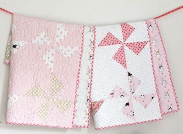 Pinwheel baby quilt free pattern
