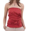 Womens bandeau sleeveless top sewing pattern