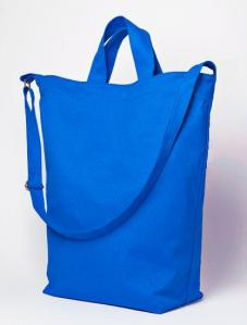 Tall tote bag with top zipper close free sewing pattern