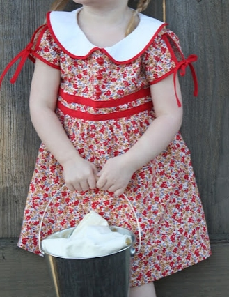 Girls' short sleeve dress with collar sewing tutorial