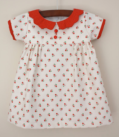 Vintage heirloom baby dress with collar sewing tutorial