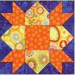 Weathervane free quilt block pattern