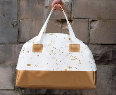 Canvas weekender duffle bag with rounded top free sewing pattern