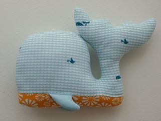 Simple easy whale stuffed animal free sewing pattern