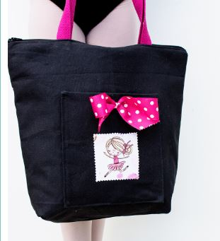 Tote bag with zipper and bow free sewing pattern